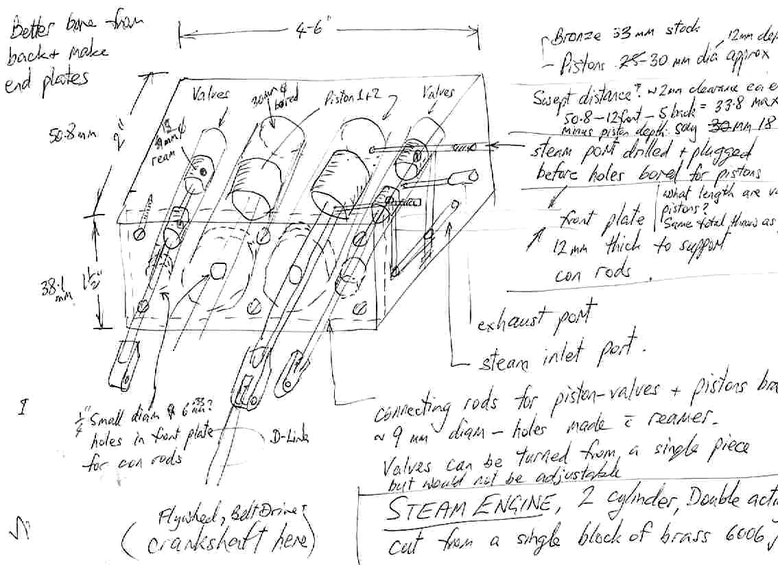Rough sketch of planned engine design #1